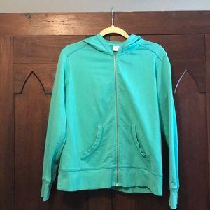 Columbia woman's aqua sweatshirt